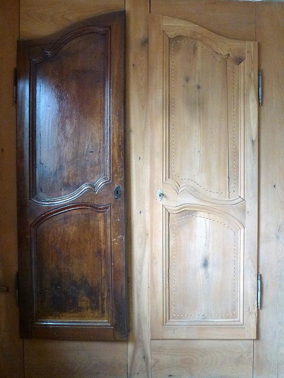 Sablage porte bois - Peinture porte en bois ...