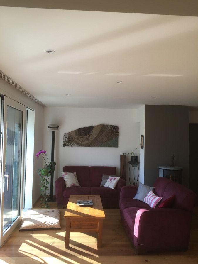 Faux plafond et cr pissage mineral int rieur christian for Peinture faux plafond